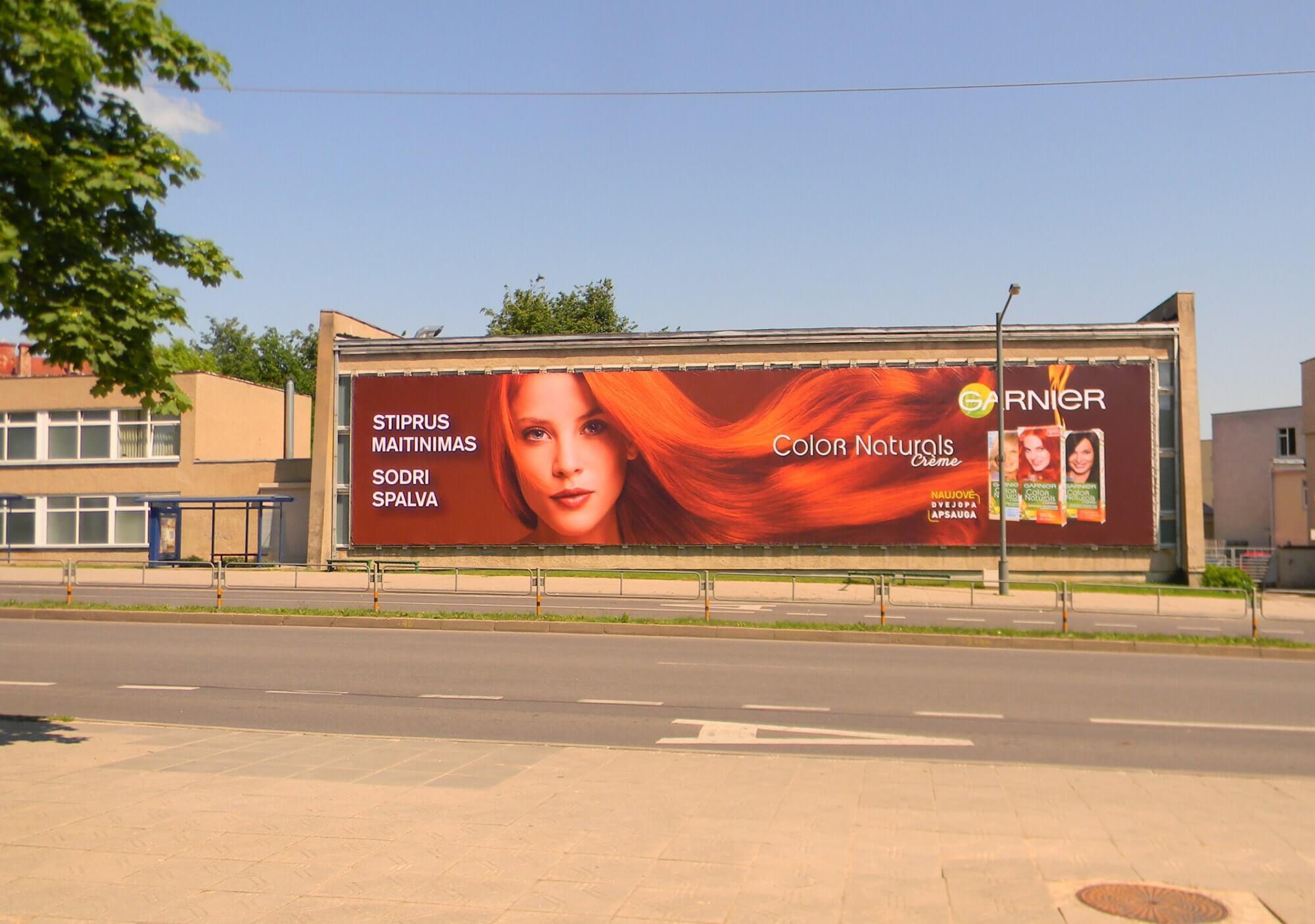 Garnier reklama Panevėžyje LT ADVERT