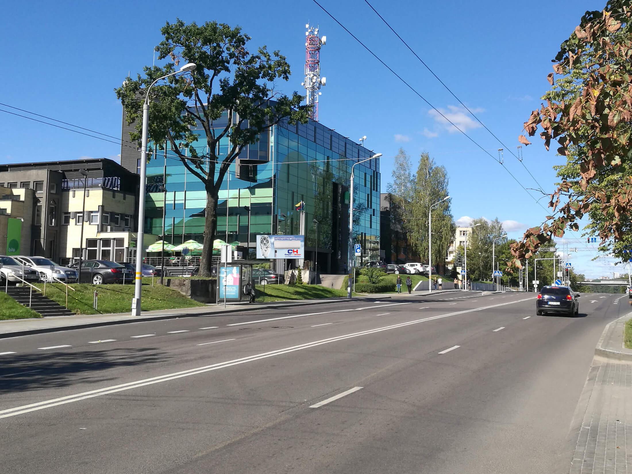 Žemaitės g. Vilnius reklamos stendas